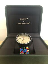 Swatch X Bape Tokyo Black Camo Watch