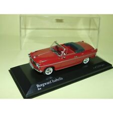 BORGWARD ISABELLA Cabriolet 1959 Rouge MINICHAMPS 1:43
