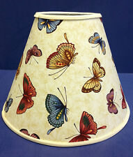 Tan Multi Color  Butterflies Lampshade Butterfly Handmade Lamp Shade