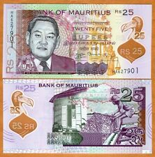 Mauritius, 25 rupees, 2013, P-New, First POLYMER, UNC