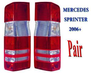 Mercedes Sprinter Rear Tail Light Lamp Lens Left Right Pair 2006 to 2018 N/S O/S