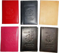 New USA Leather passport cover wallet,  Pass port case card ATM ID Holder BNWT*