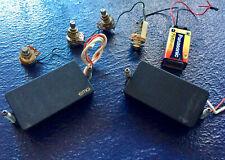 EMG 85 / 60 BRIDGE AND NECK SET - FULL KIT - WITH POTS AND JACKS