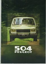 (36B) CATALOGUE PEUGEOT 504 de 1980