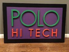 vintage Polo Sport Hi Tech Ralph Lauren Sign Display Logo 1992 92 93 Snow Beach