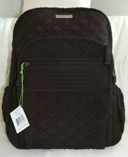 VERA BRADLEY Campus Backpack Book Bag Espresso Microfiber Brown - New with Tag