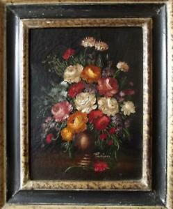 PASINI Old Master Style Dutch or Italian Still Life Oil Painting of Flowers