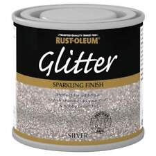 x1 Rust-Oleum Sparkling Silver Glitter Durable Toy Safe Brush Paint 125ml