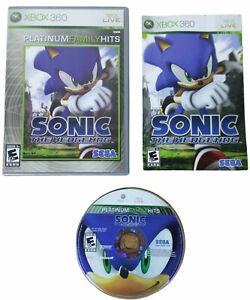 Sonic the Hedgehog Platinum Family Hits Microsoft Xbox 360 Complete CIB Manual