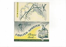"""Chicago & Southern Airlines  English/Spanish phrase book  3 1/2""""x 6"""" 12p."""