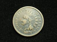 SUMMER SALE!!  FINE+ 1874 INDIAN HEAD CENT PENNY w/PARTIAL LIBERTY #22q