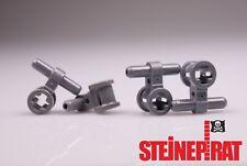 LEGO® 4x 99021 *NEU* Pneumatik Schlauch / Verbinder / dunkelgrau / 6020189