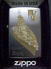 Zippo Sturmfeuerzeug Schlachtschiff Tirpitz High End Gravur
