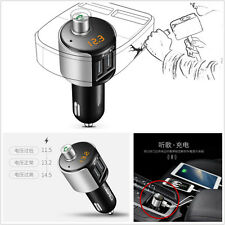 Car Wireless Bluetooth FM Transmitter MP3 Player Dual USB Phone Handfree Kit 12V
