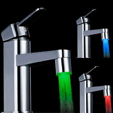 7 Color RGB Colorful LED Light Water Shower Spraying Head Faucet Bathroom FE