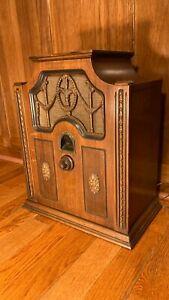 Vintage 1920's 1930s BRUNSWICK Super Heterodyne Tabletop Wood Tube Radio