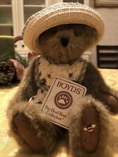 Boyds Bears Bear Plush Hunnie Z Beezley In Little Bee Jumpsuit & Hat With Tags