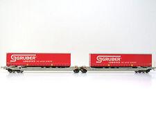 Taschenwagen Typ Sdggmrs der SBB,Ep.V,Gruber Logistics,RockyRail 90330 AC,H0,NEU