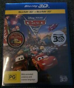 Cars 2 3D Blu-ray (2 Disc Set) Brand New Sealed