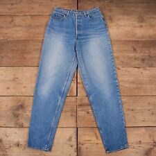 "Womens Vintage Levis Red Tab 501 80s Blue Denim Mom Jeans 30"" x 33"" R14816"