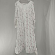 Lanz Of Salzburg Nightgown Womens Large Long Sleeve Maxi Cotton Flannel