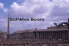 KODACHROME 35mm Slide Italy Vatican St. Peter's Square Easter Pope Paul VI 1966!