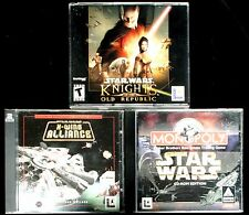 star wars knights of the old republic + XWing Alliance + Monopoly Star wars
