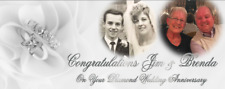 Large Customised Diamond Wedding Anniversary Banner Decoration 60th