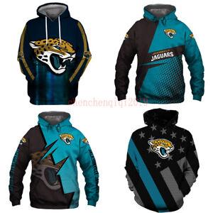 Jacksonville Jaguars Hoodie Football Sweatshirt Pullover Fans Casual Jacket Coat