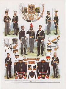 Vintage British Uniform Print 1854 Light Dragoons
