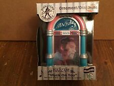 """Elvis Presley Hologram Musical Ornament  ~ plays """"Stuck on You"""" ~ NEW IN BOX"""