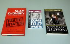 3 Books NOAM CHOMSKY FAILED STATES AMERICAN EMPIRE MIDDLE EAST ILLUSIONS Israel