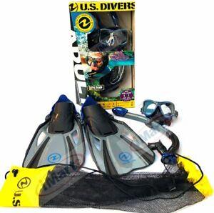 US Divers Adult Snorkeling/Snorkelling Set Mask+Snorkel+Fins GoPro Ready S/M