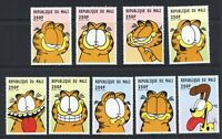 B899 Mali 1999 Katzen Cartoons Garfield 9v. MNH