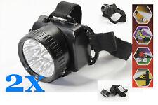 WOW 2x Stirnlampe 5LED Kopfleuchte Helmleuchte Kopflampe Stirnleuchte Weißlicht