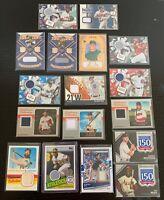 17x Baseball Jersey/Bat/Patch Card Lot - Rickey Henderson, Scherzer, Brock+