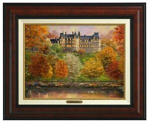 Thomas Kinkade Studios Biltmore In The Fall 12 x 16 Canvas Classic (Framed)