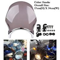 Universal Motorrad Runde Windschutzscheibe Windschild für Honda Yamaha Kawasaki
