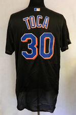 New York Mets Jorge Toca #30 Gioco Emesso Possibilmente Gioco Usato Nero Maglia