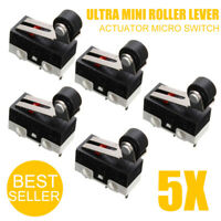 ✅ 5X Ultra Mini Micro Switch Roller Lever Actuator Microswitch SPDT Sub Switch *
