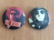 THE MISSION 2  80's 90's Metal Badges 25 MM - 1 Inch Diameter SEE PICTURES!!!
