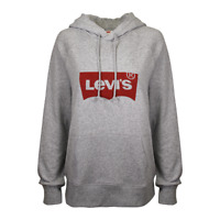 Levi's Women's Heather Grey Official Logo Pullover Hoodie