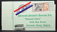 US Airmail ADV Card Plymouth Philatelic Children's Stamp USA Lupo Post (H-7416