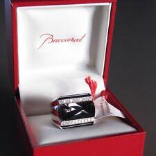 ART DECO Baccarat Unisex LOUXOR Ring Big Model Crystal Black Mordore Ret $1500
