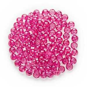 50pcs Fuchsia Round Shank Resin Buttons for Sewing Scrapbooking Cloth Decor 12mm