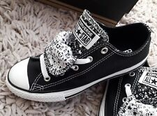 9bd113b2f21d CONVERSE ALL STAR KIDS RETRO CANVAS SNEAKERS PUMPS SIZE UK 2 BLACK SCHOOL  SHOES