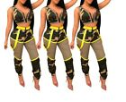Women Camouflage Printed Two Pieces Set Front Zipper UP Crop Tops+Long Pants Set