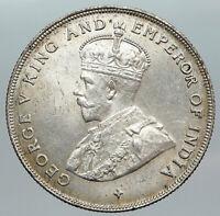 1920 STRAITS SETTLEMENTS UK King George V ANTIQUE Old SILVER Dollar Coin i89213