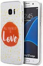 DWI  SAMSUNG GALAXY S7 EDGE TPU WATER COLOR IMD CASE JUST NEED LOVE  New
