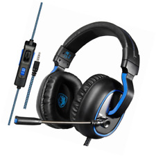 SADES R4 Gaming Headset for Xbox One Ps4 Controller 3.5mm Wired Over-ear No